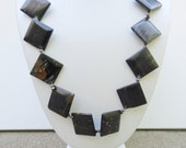 On Sale - Beaded Necklace-Black Jasper--Gift Idea