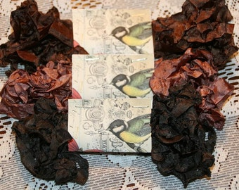 Crinkled Seam Binding  Ribbon 15 Yards - Brown Tones