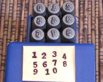 Typewriter number Stamps 2mm type font steel hardened 48-54 rockwell