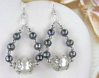 South Sea Shell Pearl Earrings (Sea Pearls) by Gonet Jewelry Design