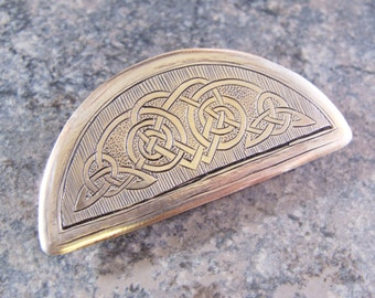 Hand Engraved Celtic Knot Sterling Silver Love Brooch