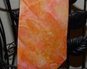 Hand Painted Silk Tie Orange