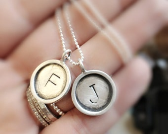 Every Disc Has A Story -custom your necklace  -  TWO  initials  of your choice - SIMAG