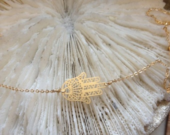 The Hamsa Hand - Do you believe in LUCK  simple and elegant design by - Simag