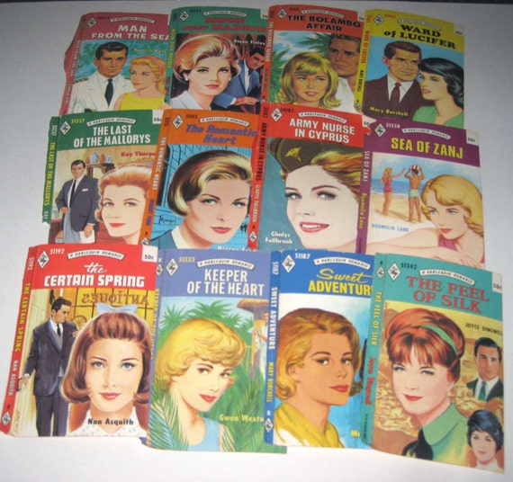 Harlequin Romance Book Covers ~ Vintage s or harlequin romance by grandmothersattic