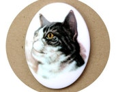 Cat Cameo Plastic 40x30mm Style 4 (1) IC081