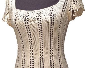 Krista Tee Knitting Pattern-PDF