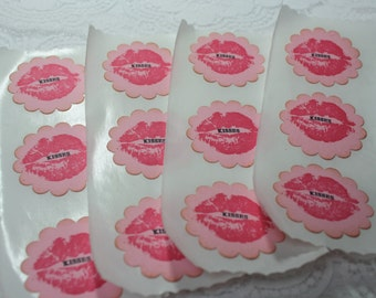 Handmade Sticker Seals - Lips - SWAK - Kisses