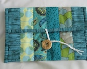 Clutch / eReader Case / Patchwork Pouch / Cosmetic Bag / Handmade by September Oaks