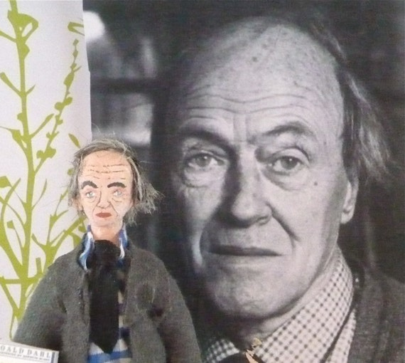 Roald Dahl  Doll Miniature Author Collectible Art