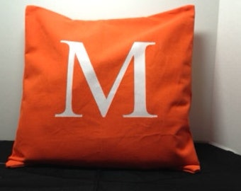 Custom Monogram 16-inch Pillow Cover - Made to Order - Choose Your Colors - Personalized