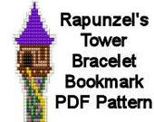 Bead Loom Pattern Disney Rapunzel's Tower Beaded Bracelet Bookmark PDF Pattern Digital File DIY