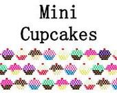 Brick Stitch Mini Cupcakes Bracelet Pattern and Tips PDF Digital File