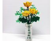 Custom Bouquet of Yellow Roses and Baby's Breath
