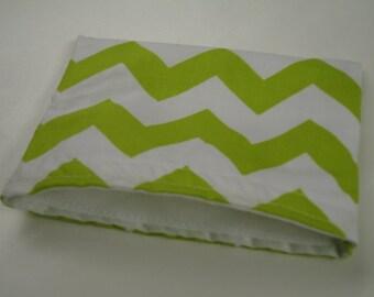 Lime Green Chevron Reusable Snack Bag Ready to Ship
