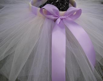 Pastel Purple and Cream Tutu with Bow