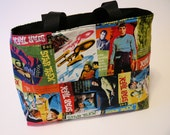 Star Trek Carry Bag Tote  - Captain Kirk, Mr. Spock, Scotty, Dr. McCoy Original Star Trek TV Series