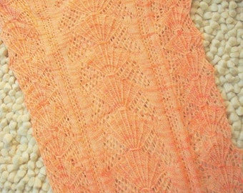 SUSIE SELLS SEASHELLS Knitted Stole Pattern in Pdf