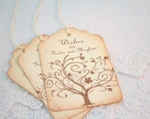 Wish Tree Wedding Tags Wishing Tree Tags Guest Book Alternative Vintage Tree Set of 50