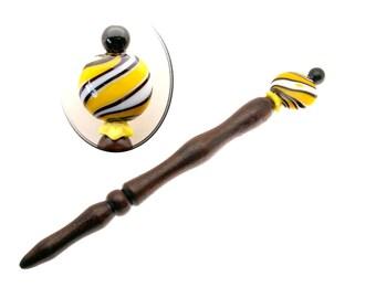 Handmade Wood Hair Stick Ebony Wood Hairstick