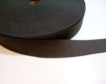 Black Elastic Band 1 1/2 inches wide x 3 yards, Black Elastic
