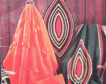 Vintage Beehive Afghan Crochet Pattern Book