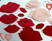 """Felt Lips Kisses 24 pcs SMALL 1""""size only - Your color choice"""