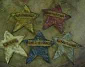 Primitive Americana Summer Flat Star Ornaments....WOW