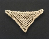 one inch scale crocheted Ladies' SHAWL