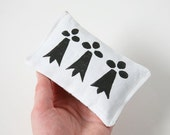 Black and White, Lavender Sachet, French Country, Ermine Spots, Brittany Flag, Bretagne, Linocut, Art Sachet, Home Accent, Aroma Therapy