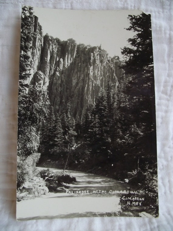 Palisades of the Cimarron New Mexico RPPC