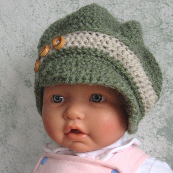 Free Knitting Pattern Baby Newsboy Hat : Infant Toddler Crochet Hat Pattern NewsBoy Slouchy Style Hat
