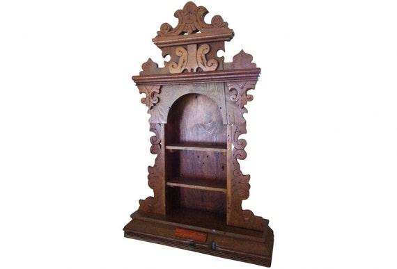 sale -vintage wood clock case shelf - victorian