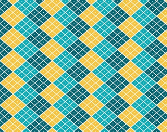 50% OFF Indie Chic Multi Checkers - 1/2 Yard