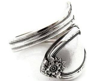Spoon Ring Wrapped Remembrance Demitasse Sizes 5 - 8