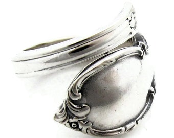 Spoon Ring Reflection Choose Your Size Wrapped Demitasse Sizes 5 - 8