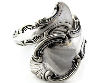 Spoon Ring Troy Demitasse Size 5 to 8 Wrapped