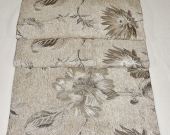 """TABLE RUNNER - Beige with Large Floral Pattern - 54"""" x 14-1/2"""" - Item TR240003"""