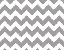 Riley Blake Medium Chevron Grey Flannel Fabric, 1 yard