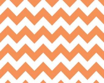 Riley Blake Chevron Orange Flannel Fabric, 1 yard