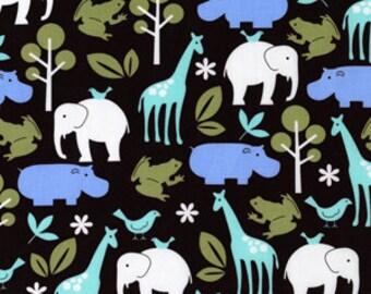 Michael Miller Zoology Brown Fabric, 1 yard