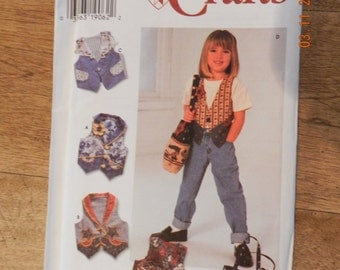 Vintage Childs Vest and Hand Bag Pattern Uncut by Simplicity 7147 Size BB 5 thru 8