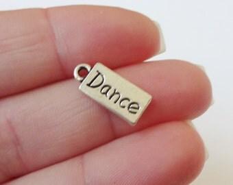 10 Dance Charms 17x7x1.6mm ITEM:K2