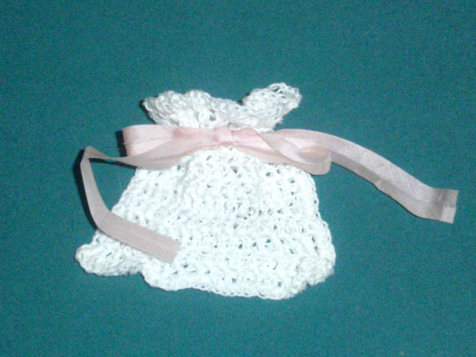 Crochet Sachet Bag Soap Saver Bag Small by CarriesCraftStore