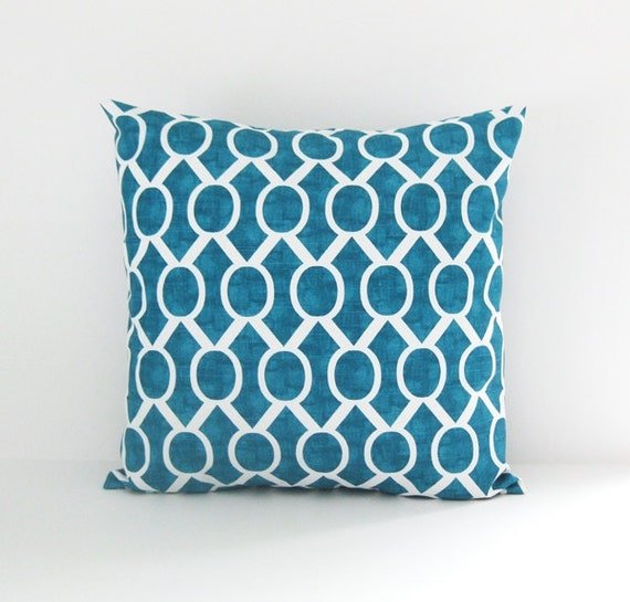 Turquoise pillow cover decorative pillow 8 sizes couch pillow for Turquoise couch pillows