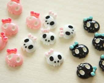 9 pcs Skull Face cabochon (16mm) IK119