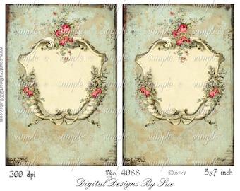 instant download No. 4088 - 5 X 7  -  Printable Digital Collage Sheet - Digital Download