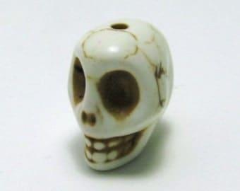 White Howlite Skull Bead