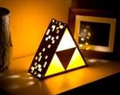 Zelda Triforce Lamp - Original - Hanging or End Table