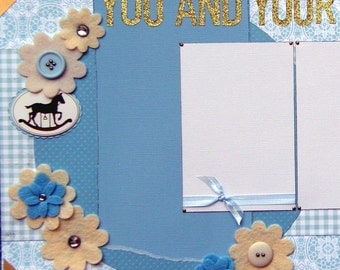 CLEARANCE 12x12 double page scrapbook layout Baby You and your Binky